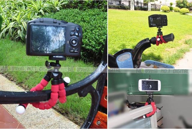 小號海綿八爪魚手機三脚架迷你微單卡片相機手機視頻支架